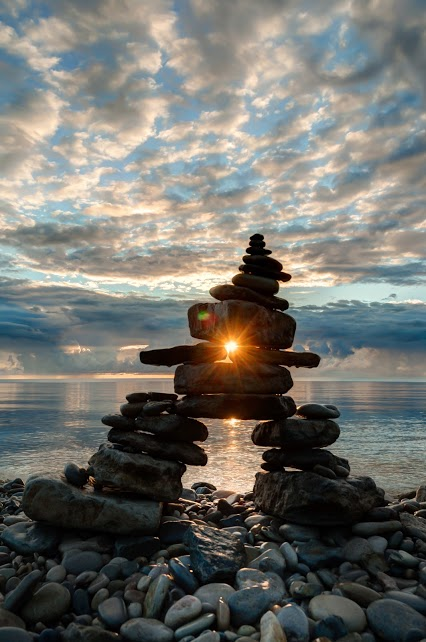 Inukshuk Sunrise ron clifford